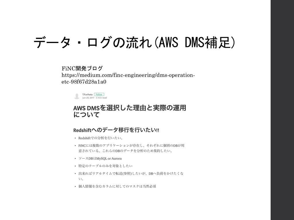 データ・ログの流れ(AWS DMS補足) FiNC開発ブログ https://medium.c...