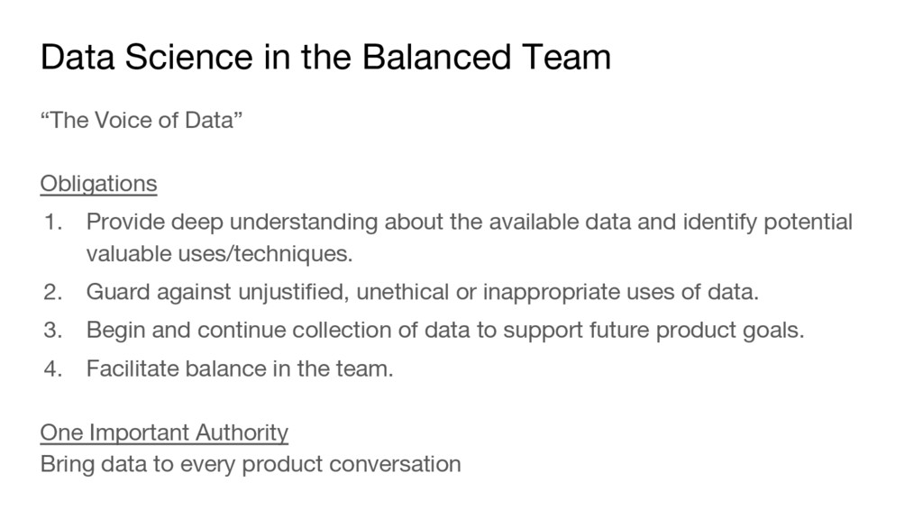 "Data Science in the Balanced Team ""The Voice of..."