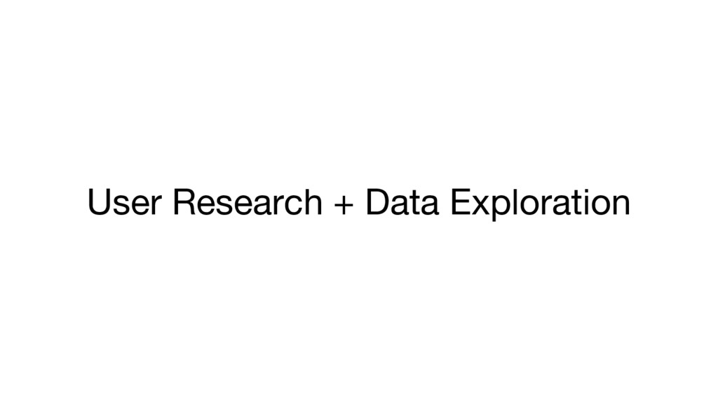 User Research + Data Exploration