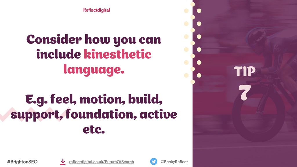 Consider how you can include kinesthetic langua...