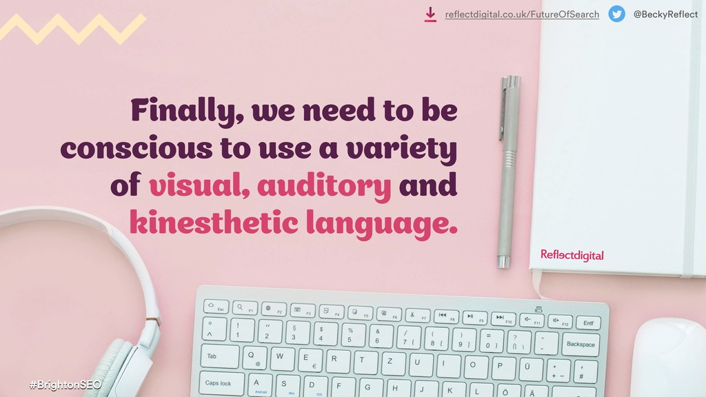 Finally, we need to be conscious to use a varie...