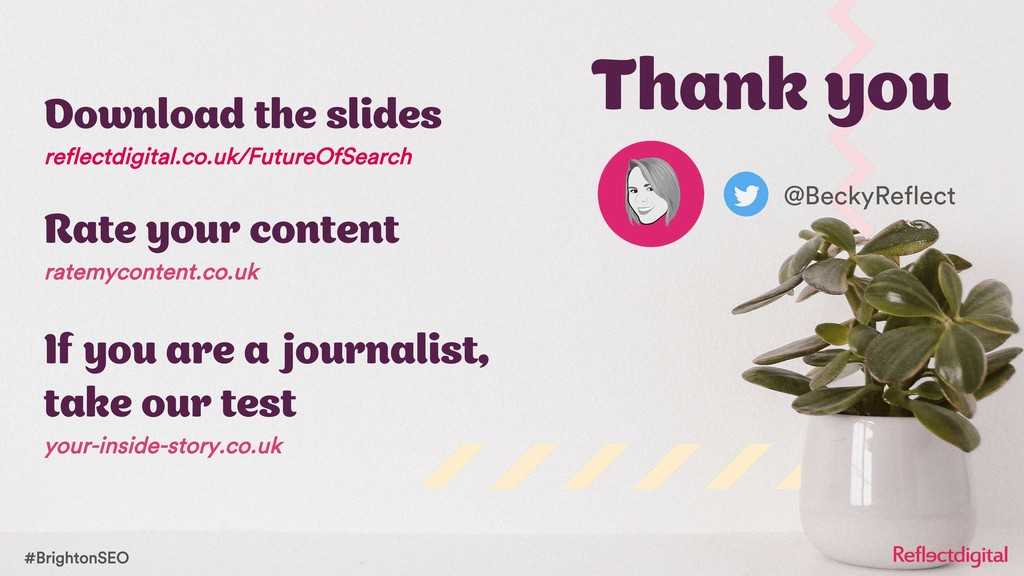 #BrightonSEO Download the slides reflectdigital...