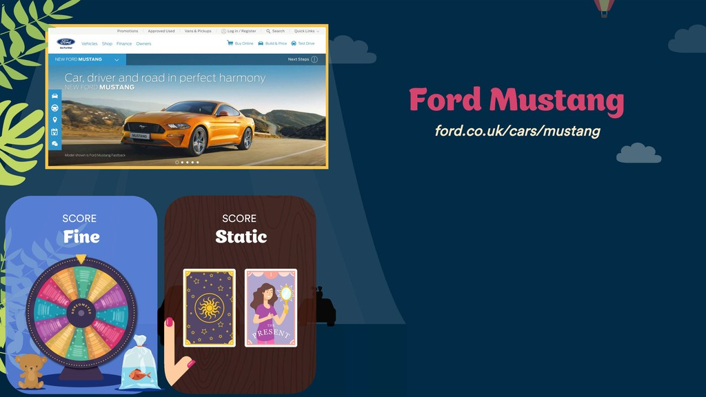 SCORE Fine SCORE Static Ford Mustang ford.co.uk...