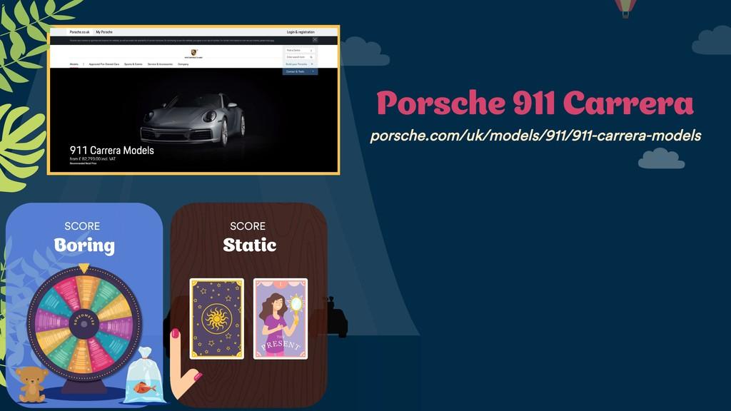 SCORE Boring SCORE Static Porsche 911 Carrera p...