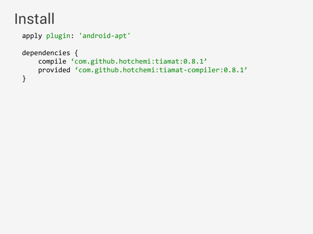 apply plugin: 'android-apt' dependencies { com...