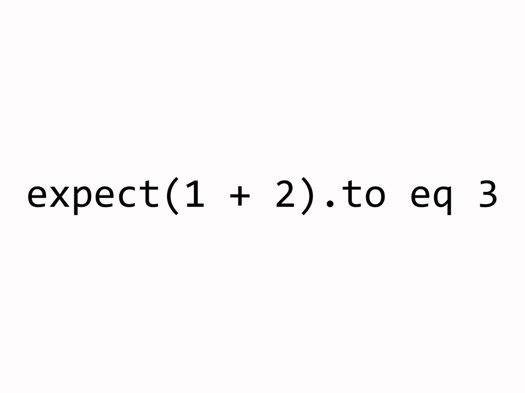 expect(1	