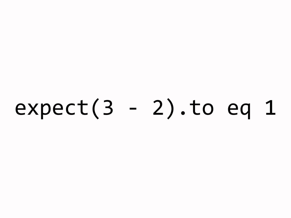 expect(3	