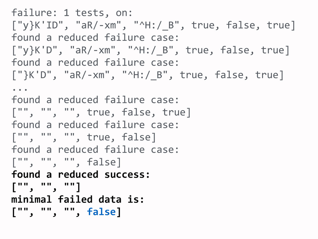 failure:	