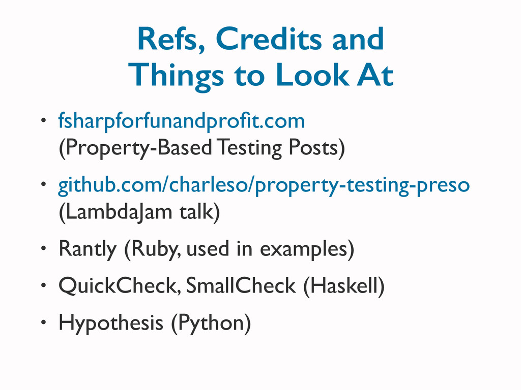 Refs, Credits and Things to Look At • fsharpfor...