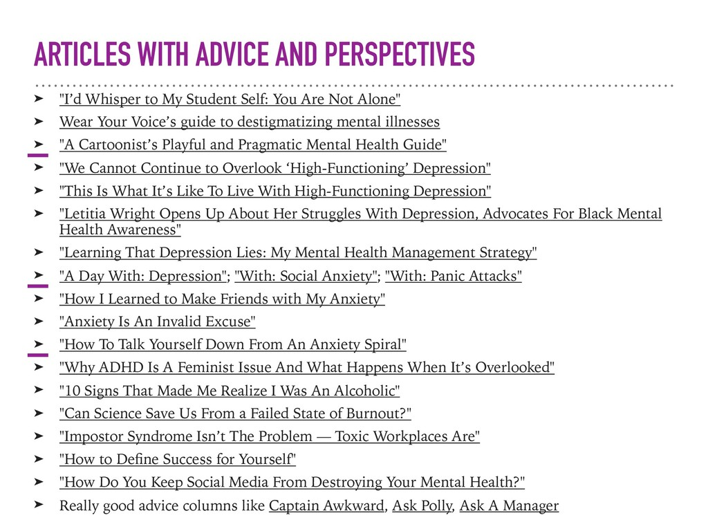 "ARTICLES WITH ADVICE AND PERSPECTIVES ➤ ""I'd Wh..."