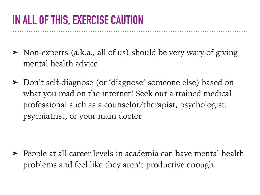 IN ALL OF THIS, EXERCISE CAUTION ➤ Non-experts ...