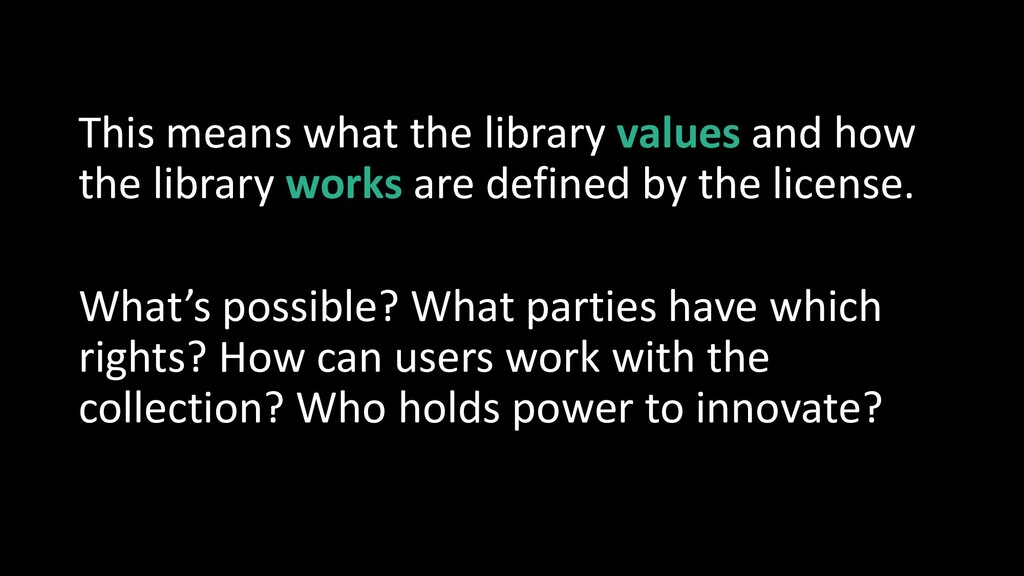 This means what the library values and how the ...