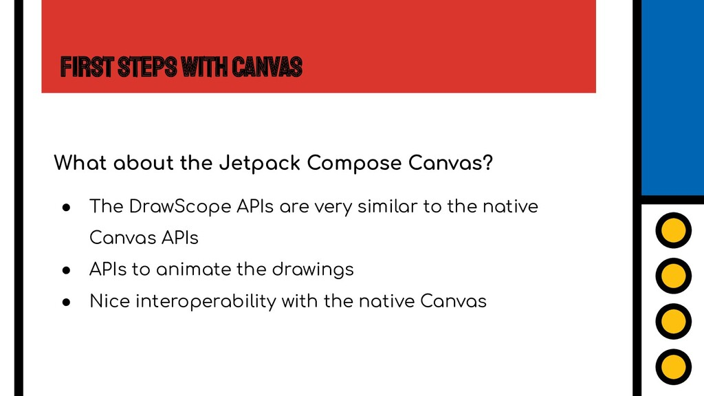 First Steps with Canvas What about the Jetpack ...