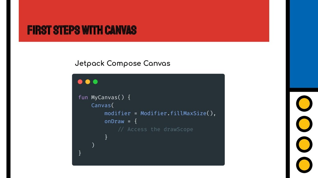 First Steps with Canvas Jetpack Compose Canvas