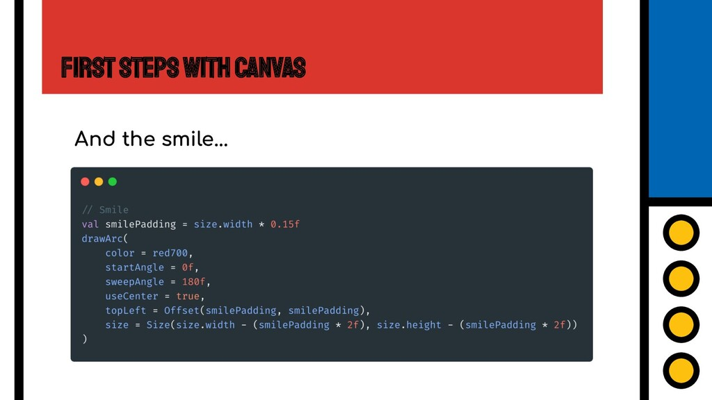 First Steps with Canvas And the smile...