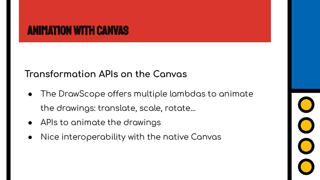 Animation with Canvas Transformation APIs on th...