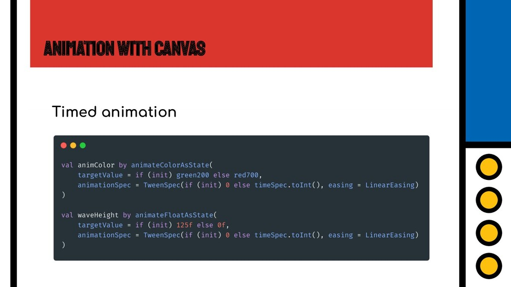 Animation with Canvas Timed animation