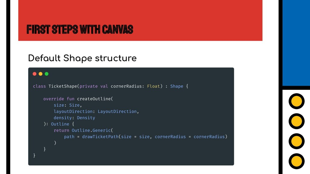 First Steps with Canvas Default Shape structure