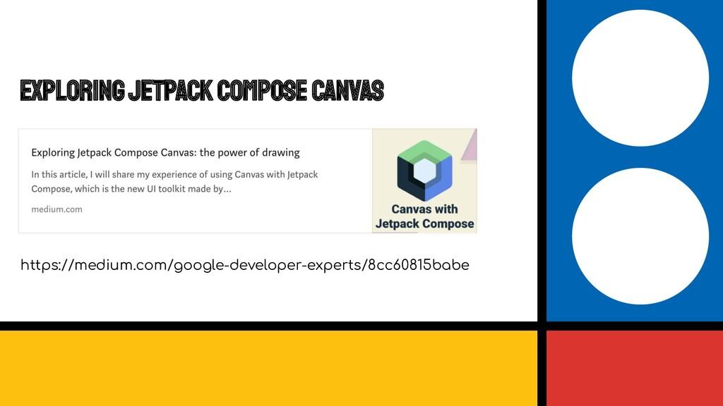 Exploring Jetpack Compose Canvas https://medium...