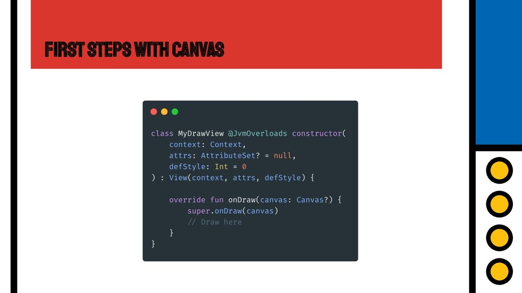 First Steps with Canvas