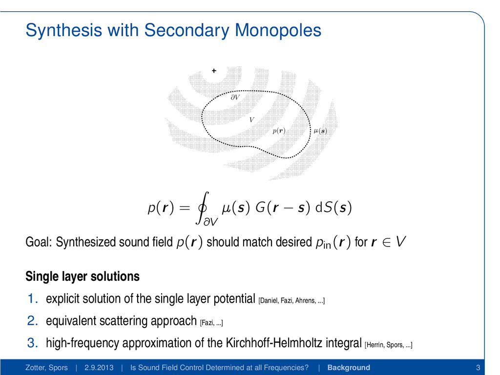 Synthesis with Secondary Monopoles V (s) ∂V p(r...