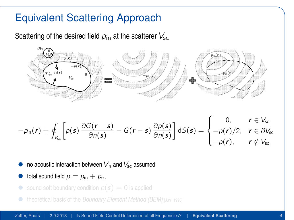 Equivalent Scattering Approach Scattering of th...