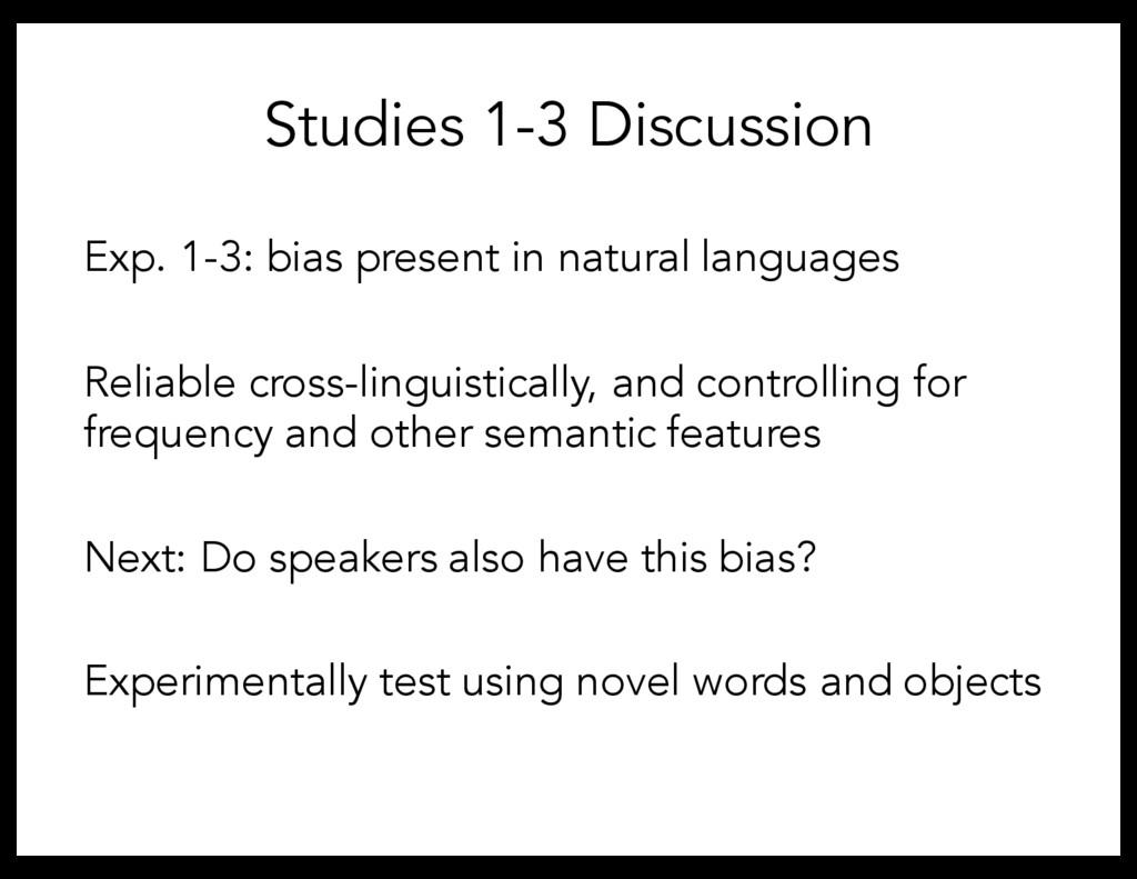 Exp. 1-3: bias present in natural languages Rel...