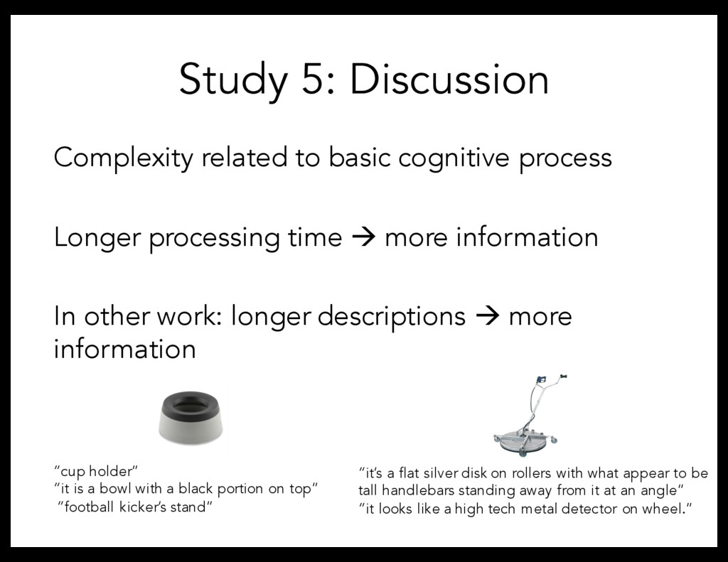 Complexity related to basic cognitive process L...