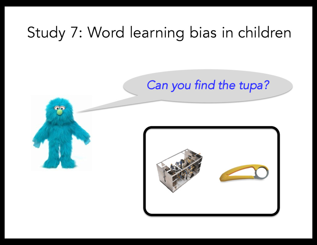 Can you find the tupa? Study 7: Word learning b...