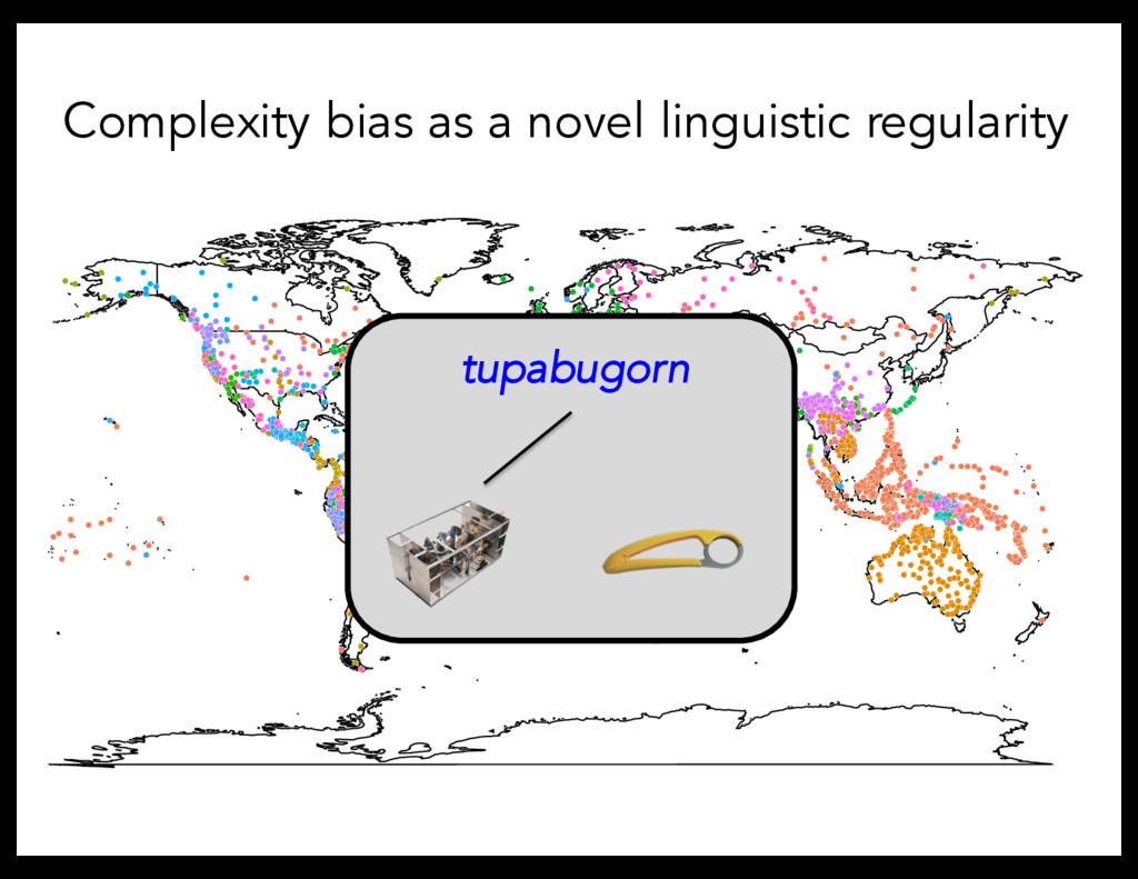 Complexity bias as a novel linguistic regularit...