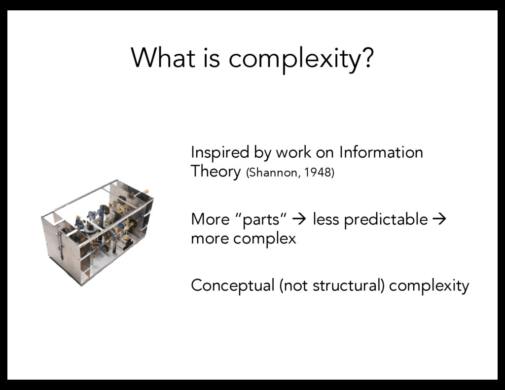 What is complexity? Inspired by work on Informa...