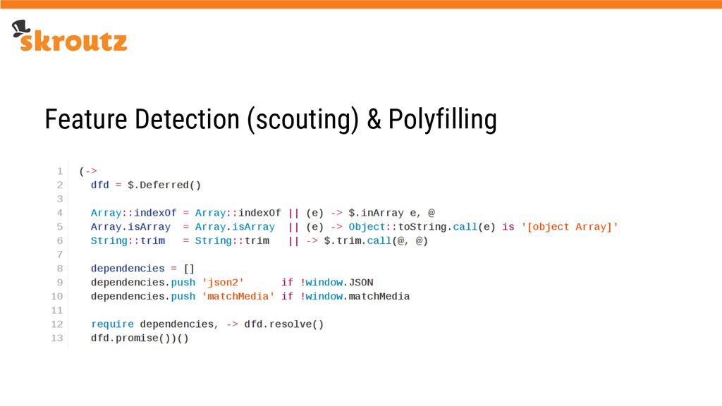 Feature Detection (scouting) & Polyfilling