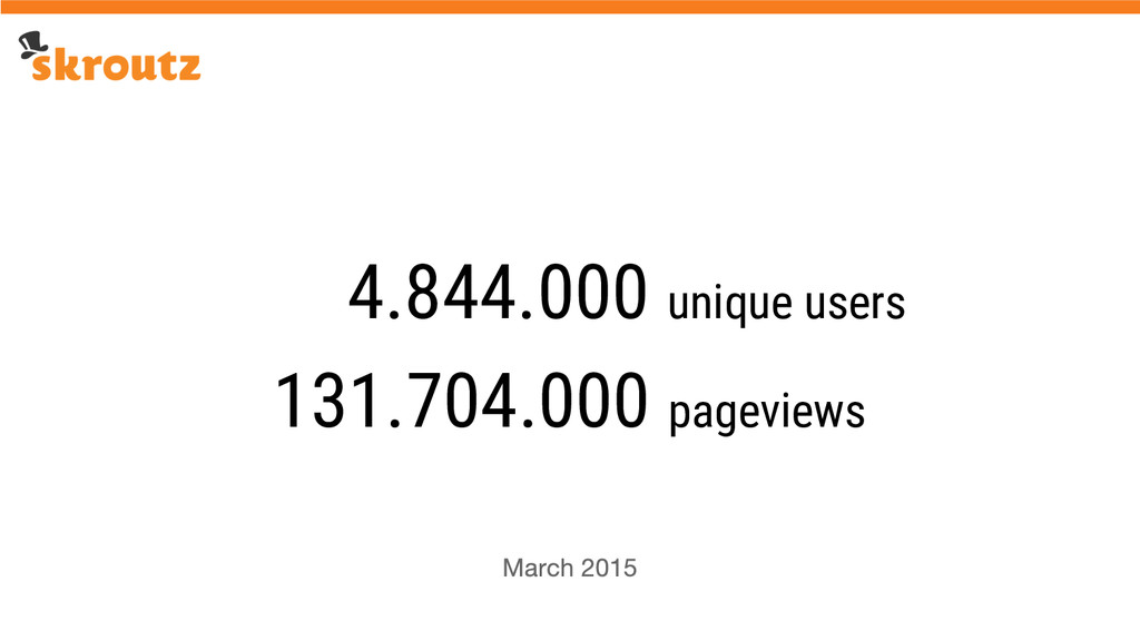 131.704.000 pageviews 4.844.000 unique users