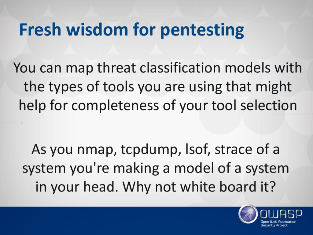 Fresh wisdom for pentesting You can map threat ...