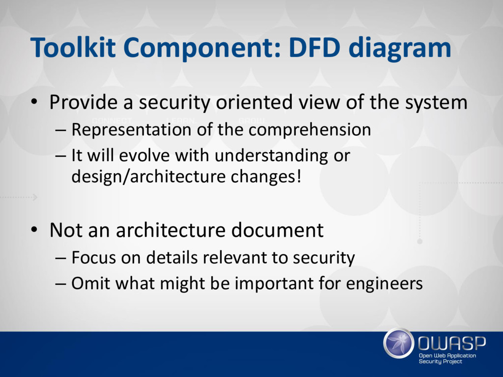 Toolkit Component: DFD diagram • Provide a secu...