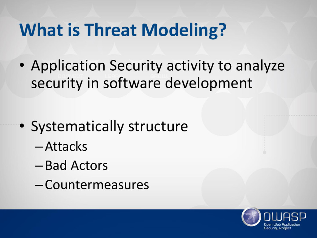 What is Threat Modeling? • Application Security...