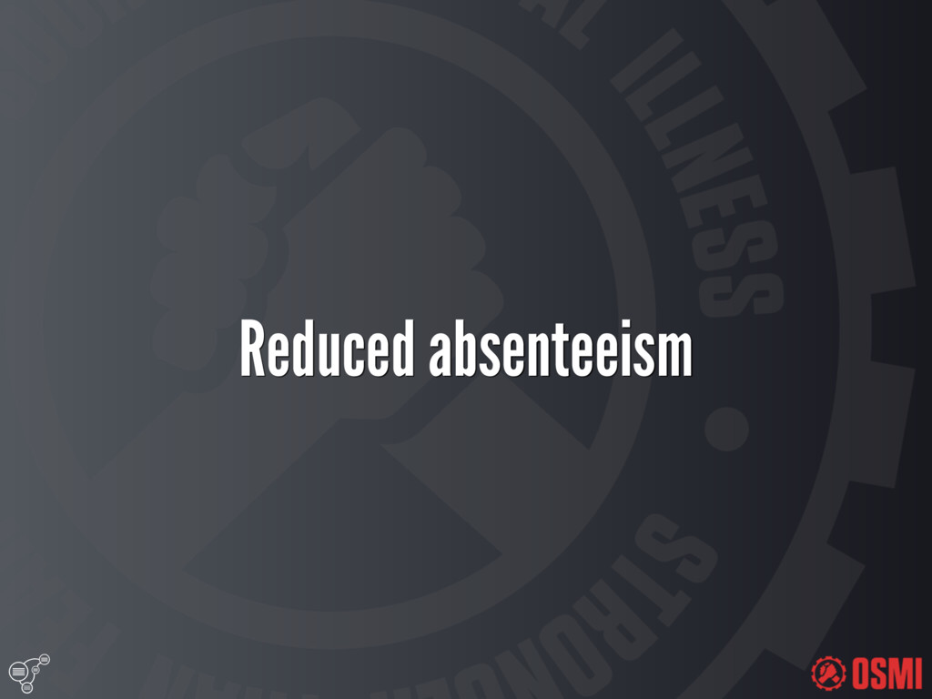 Reduced absenteeism
