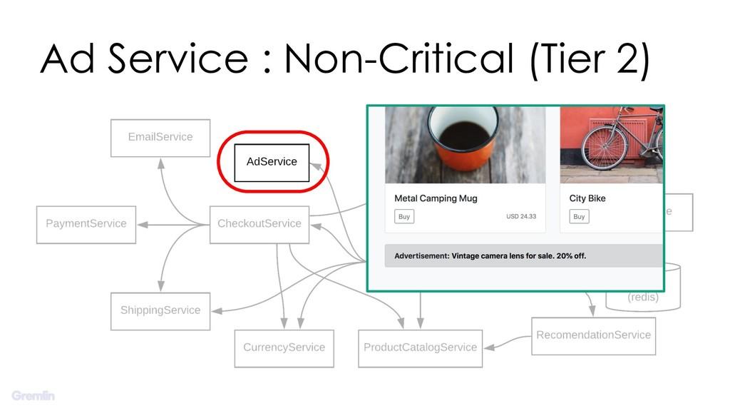 Ad Service : Non-Critical (Tier 2)