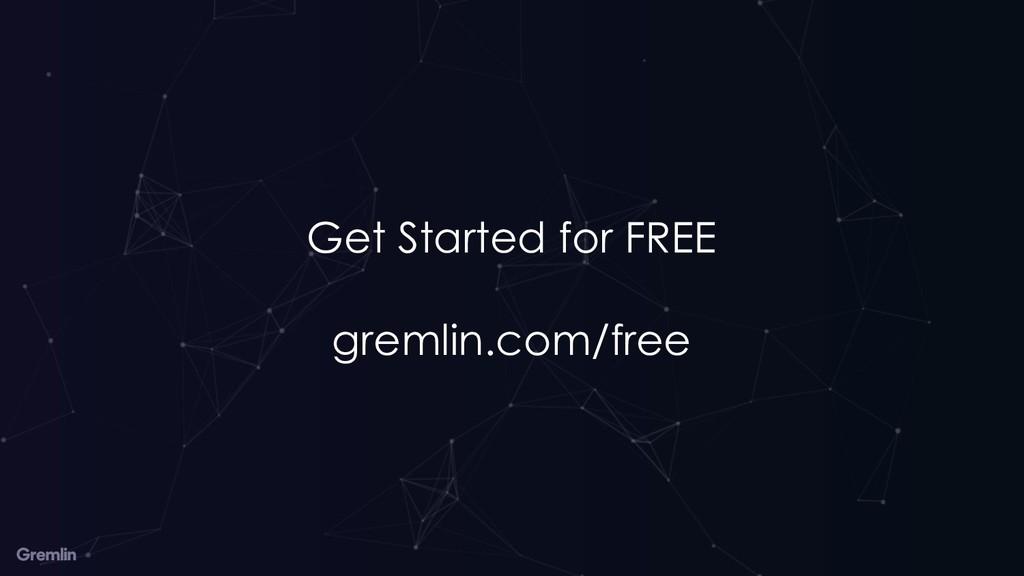 Get Started for FREE gremlin.com/free