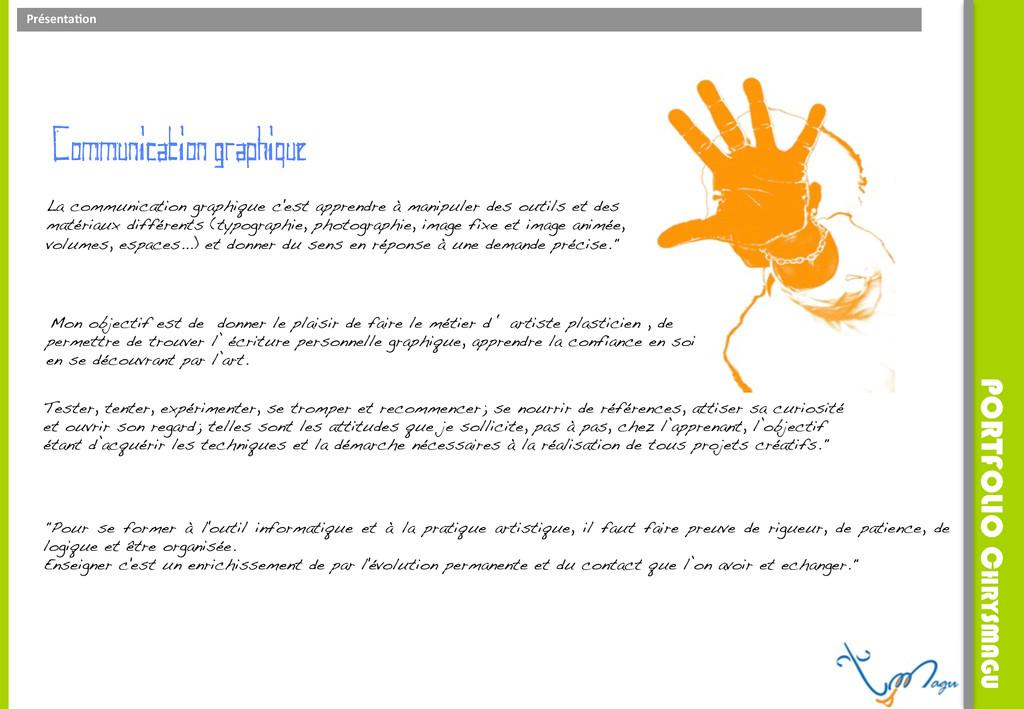 Présenta)on     Communication graphiqu...