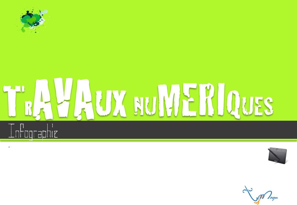 """TR AVAUX NU MERIQUES"""" ! Infographie ."""