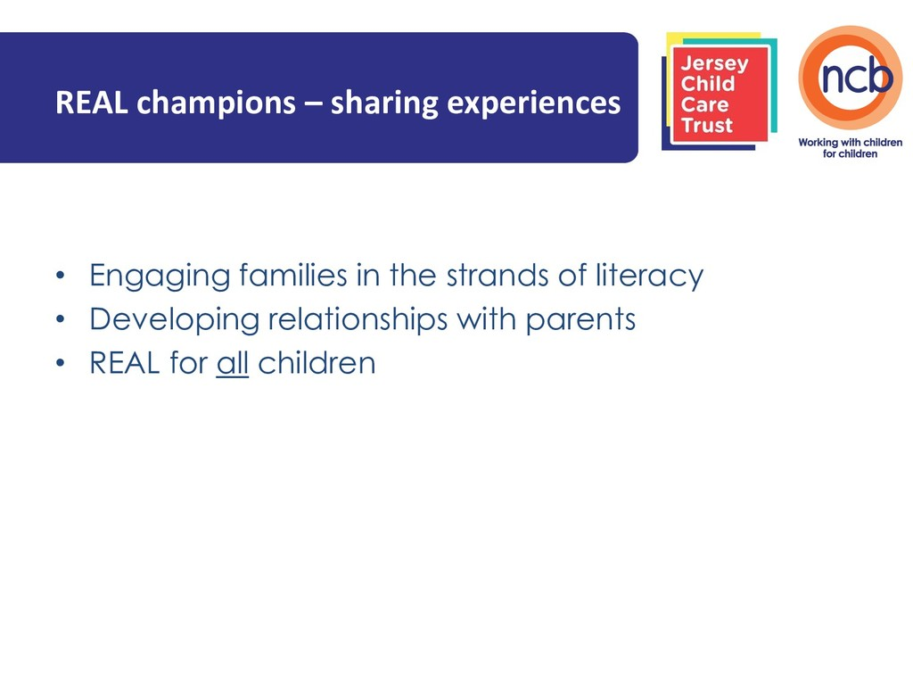 REAL champions – sharing experiences • Engaging...