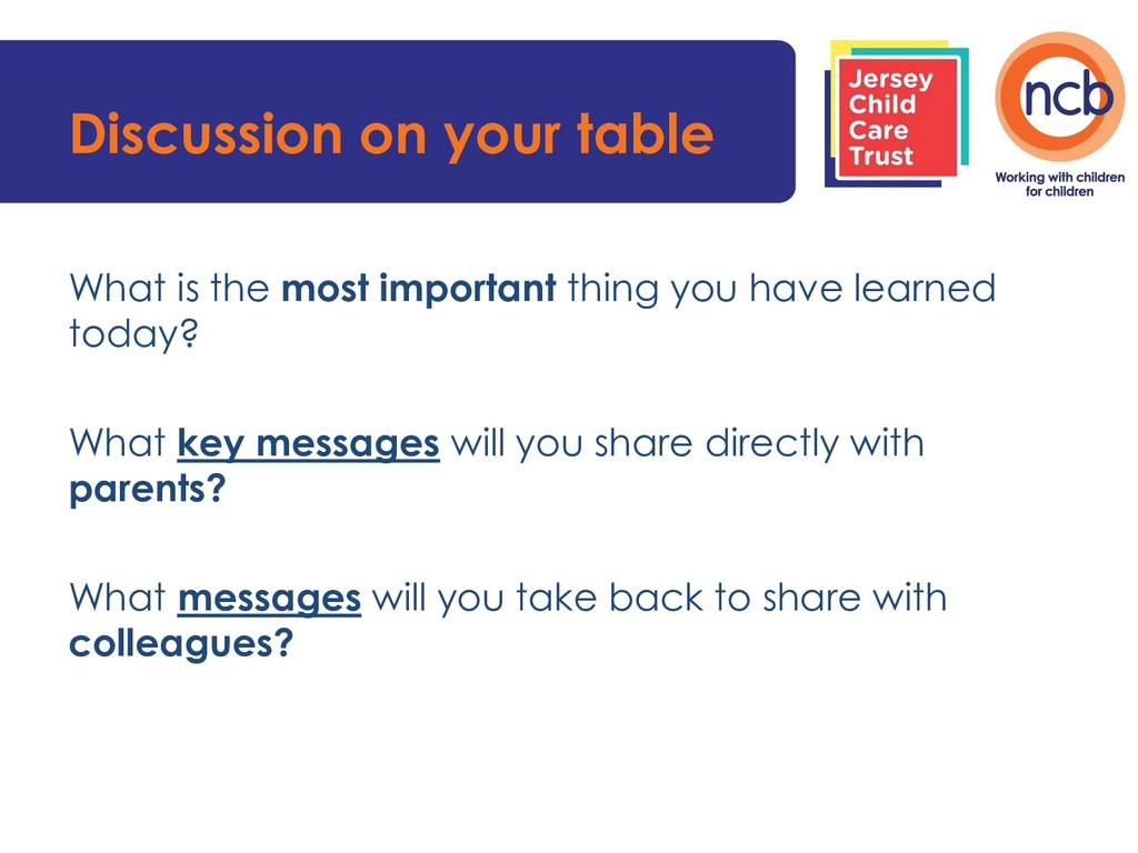 Discussion on your table What is the most impor...