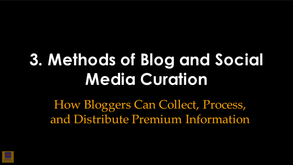 3. Methods of Blog and Social Media Curation Ho...