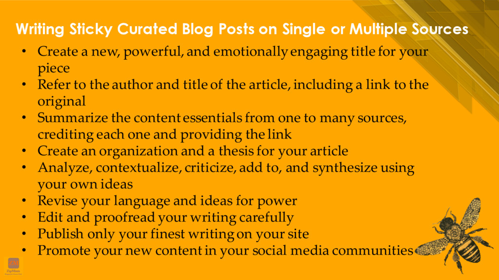 Writing Sticky Curated Blog Posts on Single or ...