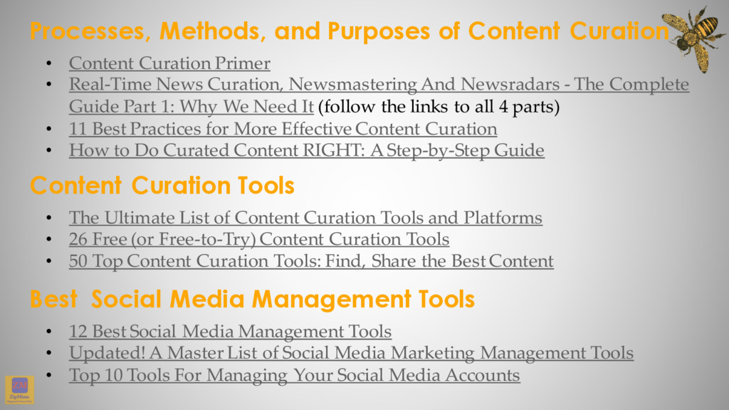 Processes, Methods, and Purposes of Content Cur...