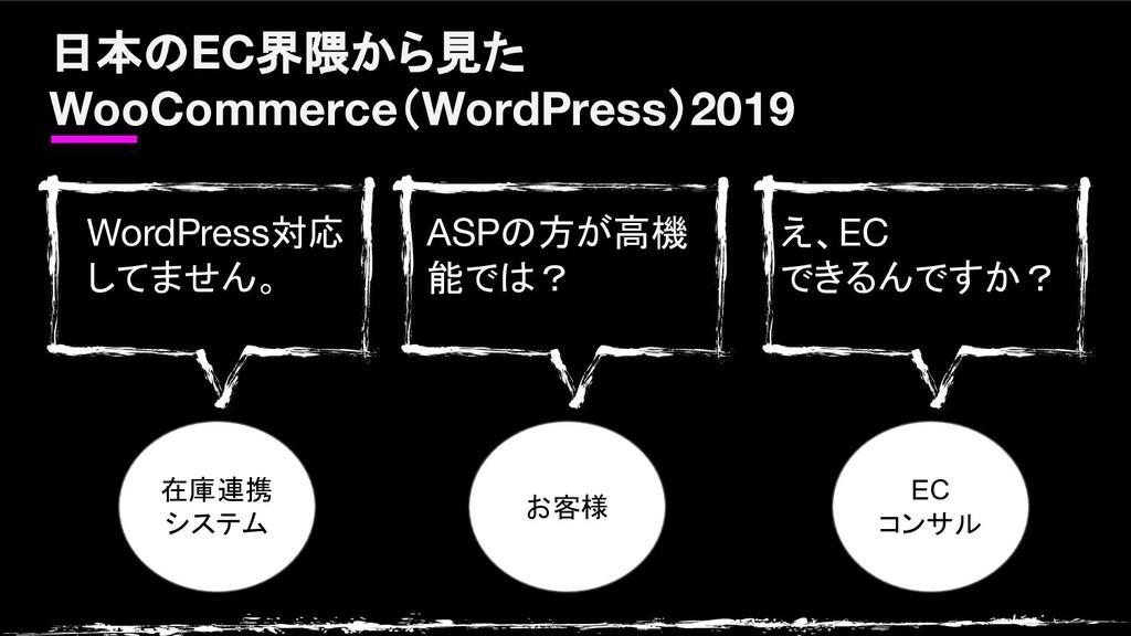 日本のEC界隈から見た WooCommerce(WordPress)2019 在庫連携 システ...