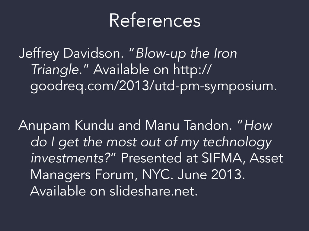 "References Jeffrey Davidson. ""Blow-up the Iron ..."