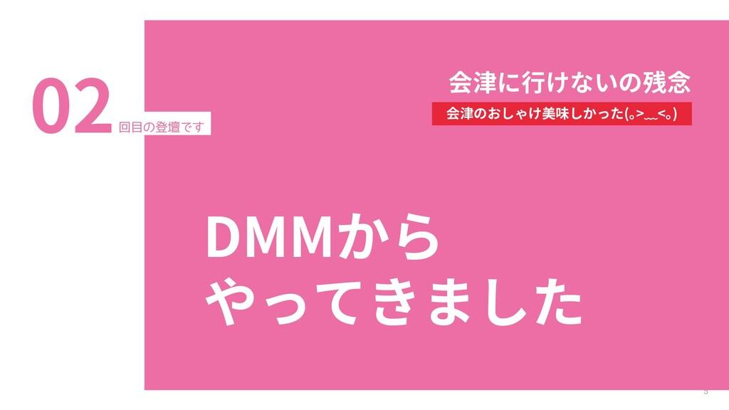 5 回目の登壇です 02 DMMから やってきました 会津に行けないの残念 会津のおしゃけ美味...