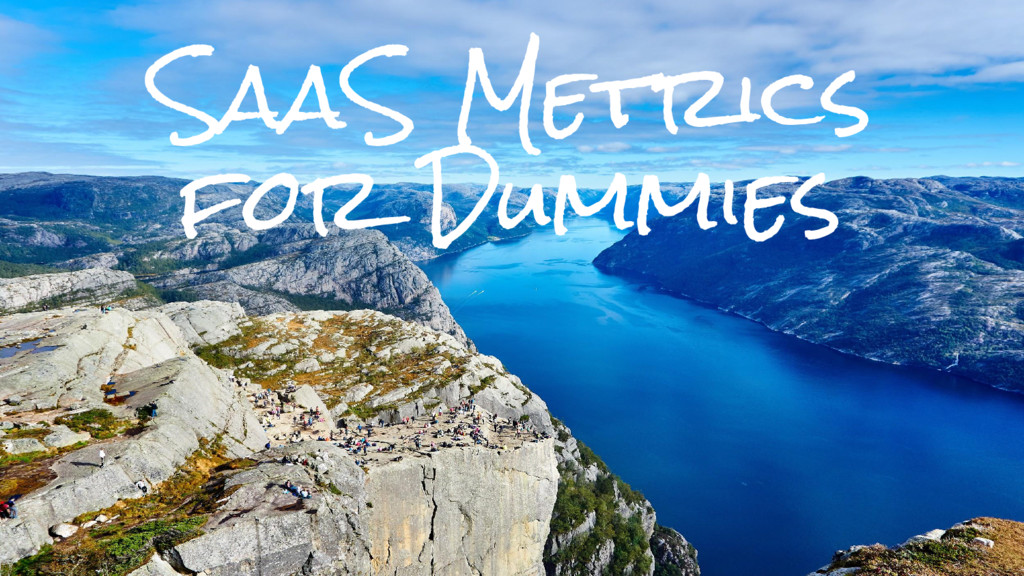 SaaS Metrics for Dummies